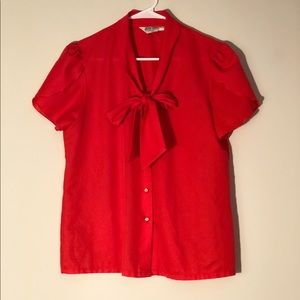 Red vintage Judy Bond Blouse